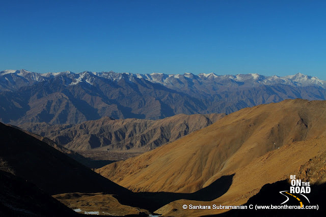 Sunrise in the Western Himalayas of Changthang Cold Desert