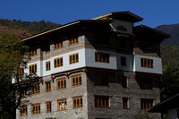 Traditional Bhutanese building in Thimphu
