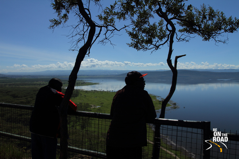 Locals admiring the view from Baboon's cliff