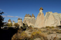 Beautiful mushroom shaped rocks of Monks Valley, Cappadocia, Turkey