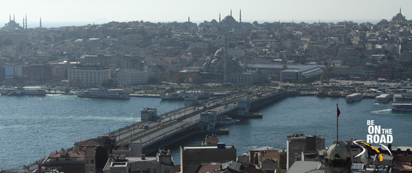 Galata Bridge and the big mosques of Istanbul