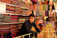 Inside a scarf store at Sanliurfa old city