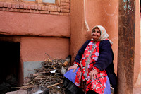 Street Photo - Elderly Abyaneh Lady in her colourful clothing