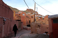 Walking through the brick lanes of Abyaneh, Iran
