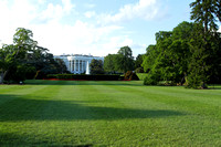 The White House surrounded by beautiful greenery
