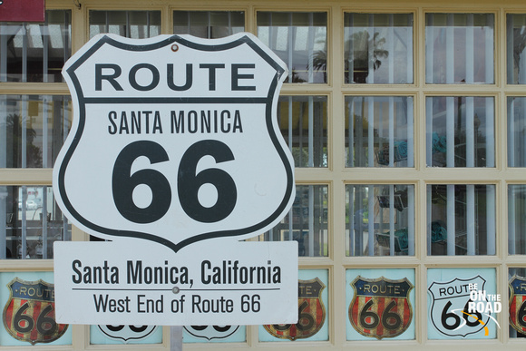 Route 66 ends here