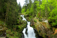 The Multi tiered Triberger Falls of Germany