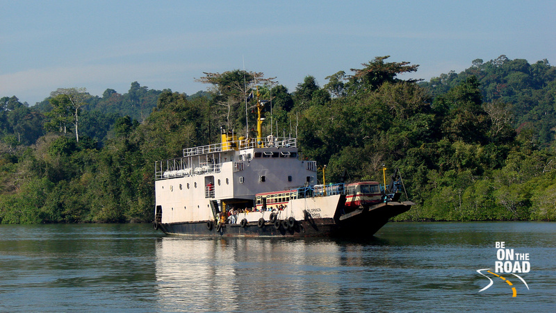 The Ultimately slow Ferry that takes passengers and vehicles aboard to Baratang Island