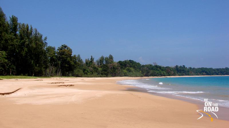 The tropical Butler Bay Beach in Little Andaman