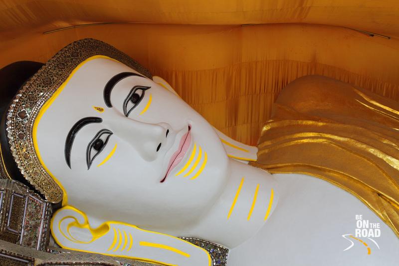 Smiling Buddha at Shwe Tha Lyuang Temple, Bago, Burma