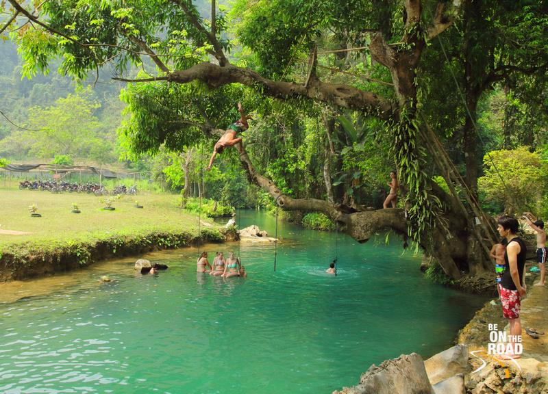 Crazy Jumping Stunts at Vang Vieng's Blue Lagoon