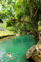 Swimming and Diving in Vang Vieng's Blue Lagoon