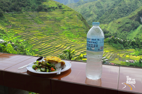 Wholesome lunch with a great view - at Batad Rice Terraces, Philippines