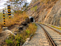 The tunnels of Kerala mountain railways, India