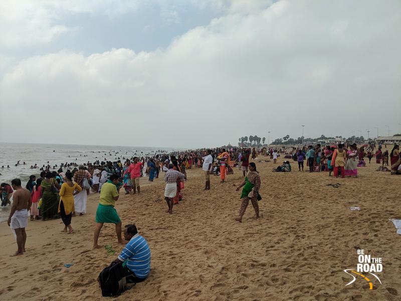 The holy beach at Tiruchendur, Tamil Nadu