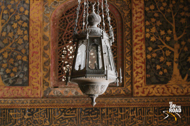 Antique lamp inside Akbar's Tomb, Sikandra, Agra
