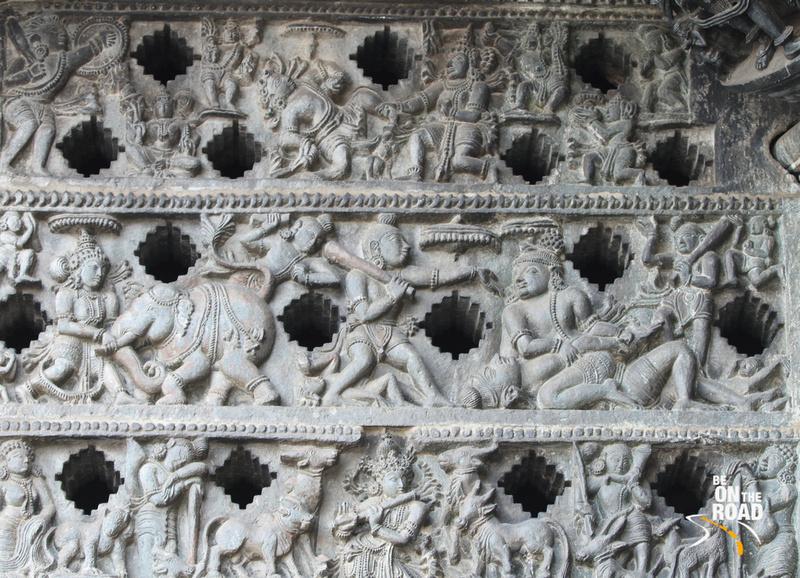 Stories of epics picturized on the walls of Chennakeshava temple, Belur, Karnataka