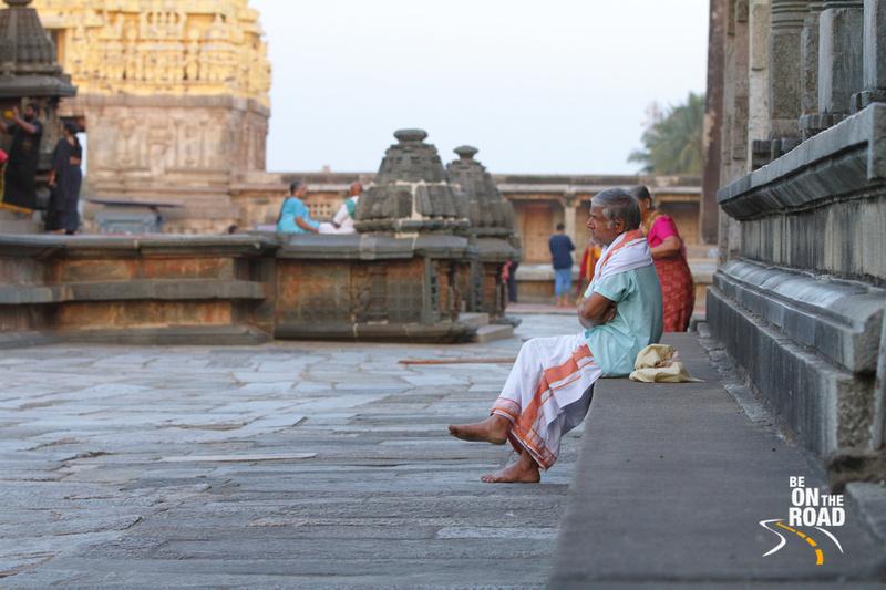 Deep in thought - a Devotee at Chennakeshava temple, Belur, Karnataka