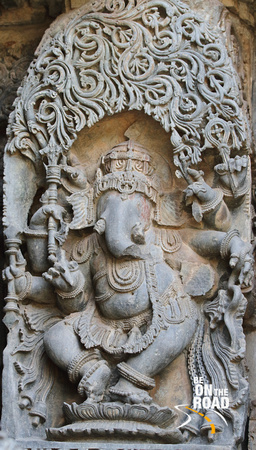 Ganesha sculpture at Hoysaleswara temple, Halebid