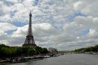 Eiffel tower and the river Seine