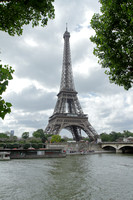 Eiffel tower seen from the river Seine, Paris