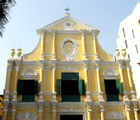 Gorgeous looking church in Macau old city