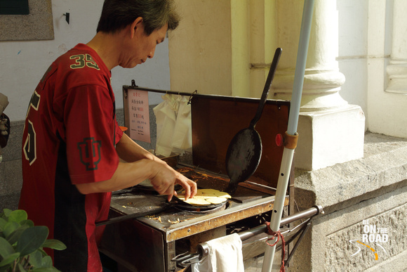 Portuguese Street Food in action at Macau