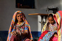 Kutchi women and their colorful attire and jewelry