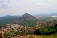 View of Quarry that lies between Chandrayana Betta and Skandagiri Hills