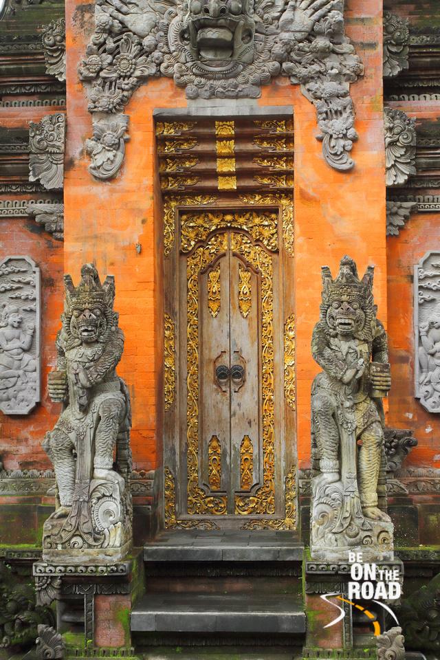 A door in Tirta Empul Temple, Bali, Indonesia