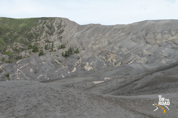 Sand dunes behind the Bromo volcano