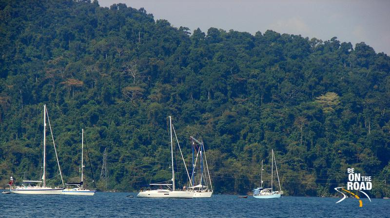 The sail's down at Port Blair, Andaman Islands, India