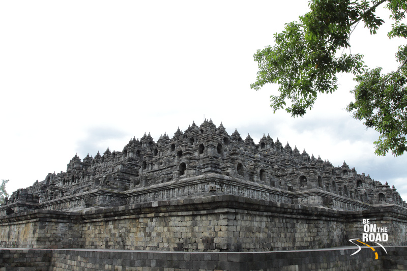 The massive Borobudur Temple in Indonesia
