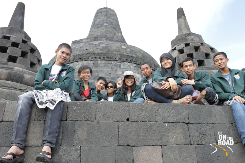School kids on a Borobudur Excursion, Indonesia