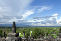View from Borobudur's East entrance