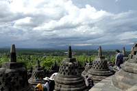 The domes of Borobudur, Java, Indonesia