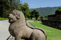 Lion guarding the Borobudur gate, Indonesia