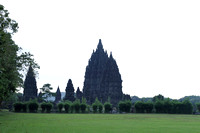 A side view of the Prambanan Temple Complex