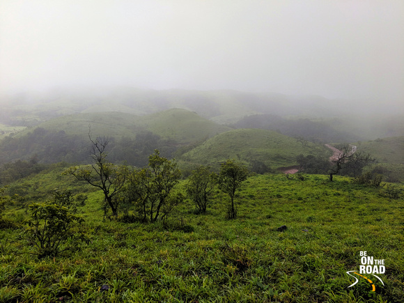 Misty View from Kaginahare Fort, Karnataka