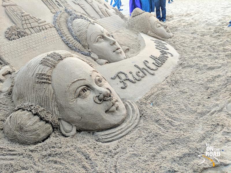 Sand Art on Puri Beach, Odisha