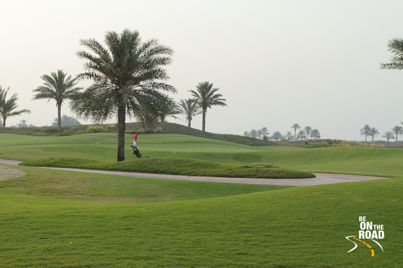Practicing Golf at Saadiyat Golf Club, Abu Dhabi
