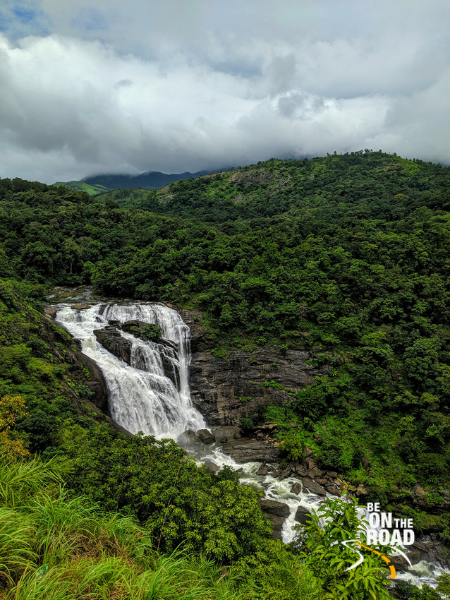 Monsoon clouds, dense forests and Mallalli Falls
