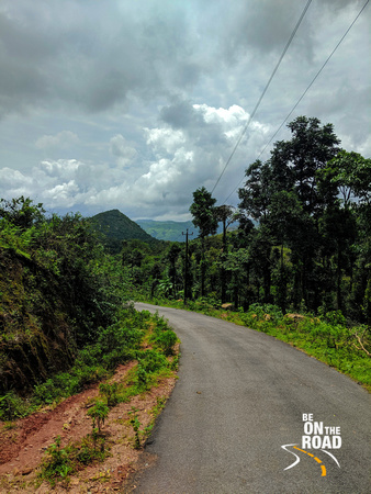 Dark monsoon clouds seen in Malnad countryside