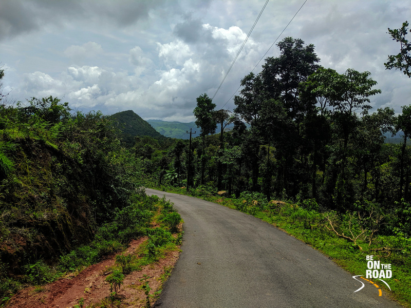 Forests and green rolling hills as seen during my Malnad Motorcycle ride
