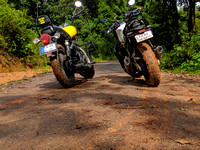 After some dirt riding during the monsoons in Malnad, Karnataka