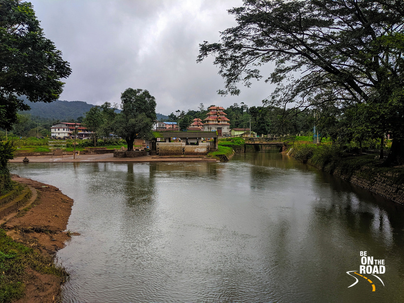 Confluence of Cauvery, Kanike and Sujyoti rivers at Bhagamandala, Coorg