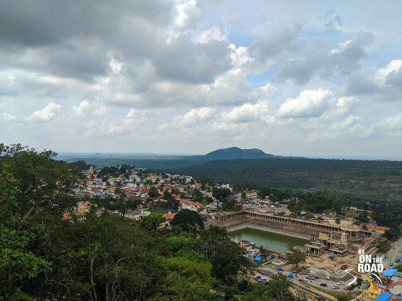 Melukote aerial view from Yoga Narasimha swamy temple, Melukote