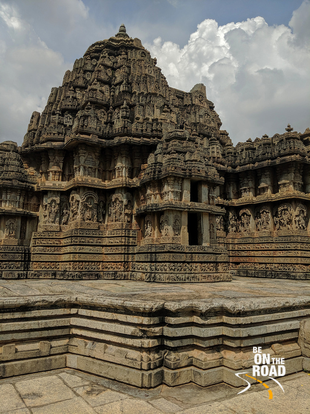 The intricately carved Hoysala era temple at Hosaholalu