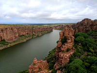 Beautiful Pennar river canyon at Gandikota, Andhra Pradesh