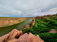 Panoramic Pennar river canyon at Gandikota, Andhra Pradesh